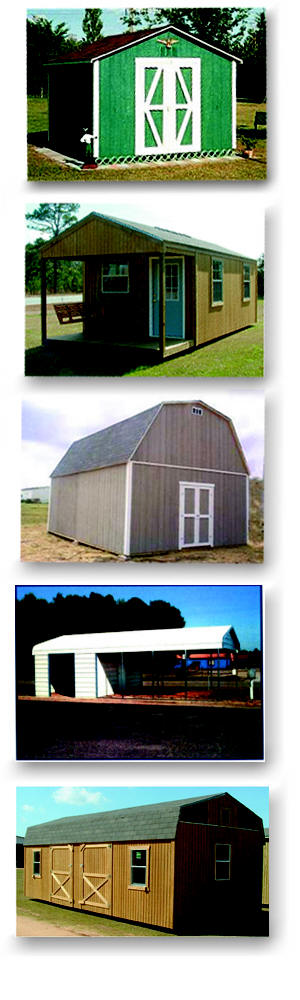 Utility Bulding, Cabin, Lofted Barn, Carport, Wood and Metal